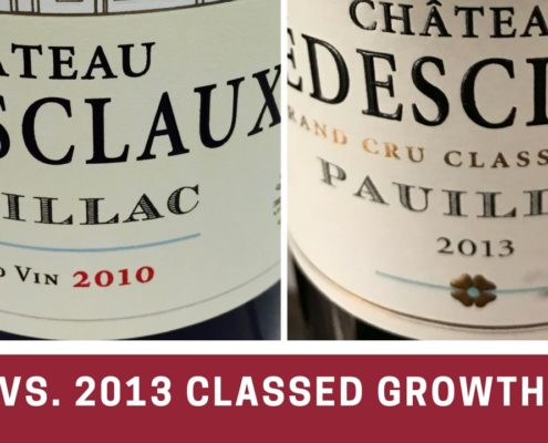 Extremes in Bordeaux – 2010 vs. 2013 Classed Growth Reds